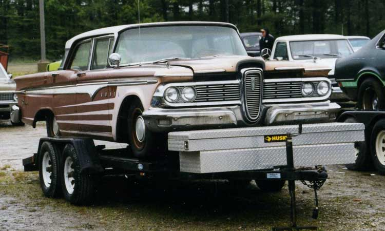 Kit foster 39 s carport blog archive edsel we hardly knew ya for Carport auto auction