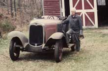 Philip Foster with his Model A