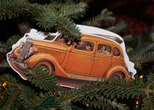 1935 Ford ornament on Christmas tree