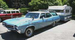 1969 Buick Sportwagon with 1969 Shasta LoFlyte trailer