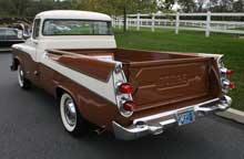 1959 Dodge Sweptside pickup - rear